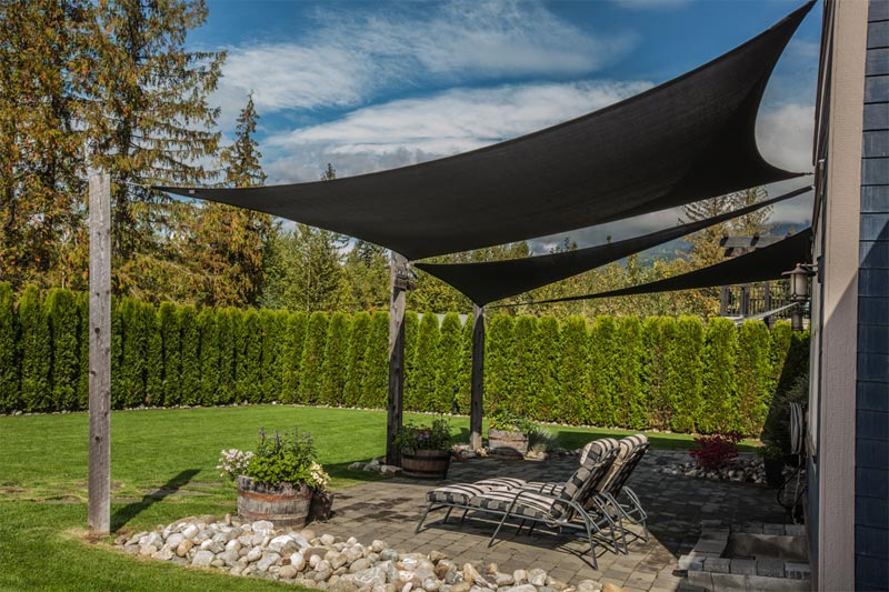 shade sails can be used in combination to create intricate shade solutions