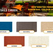 Norwester Premium Shade Sail Colour Options