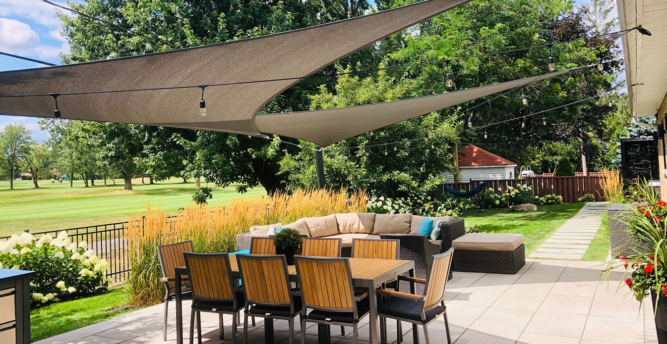 Triangle Shade Sail from Shade Sails Canada