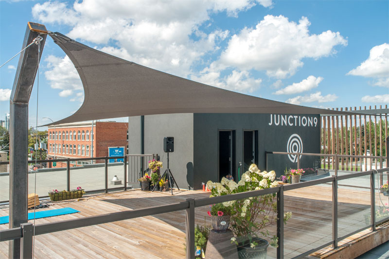 Junction 9 Yoga Studio Custom Shade Structure