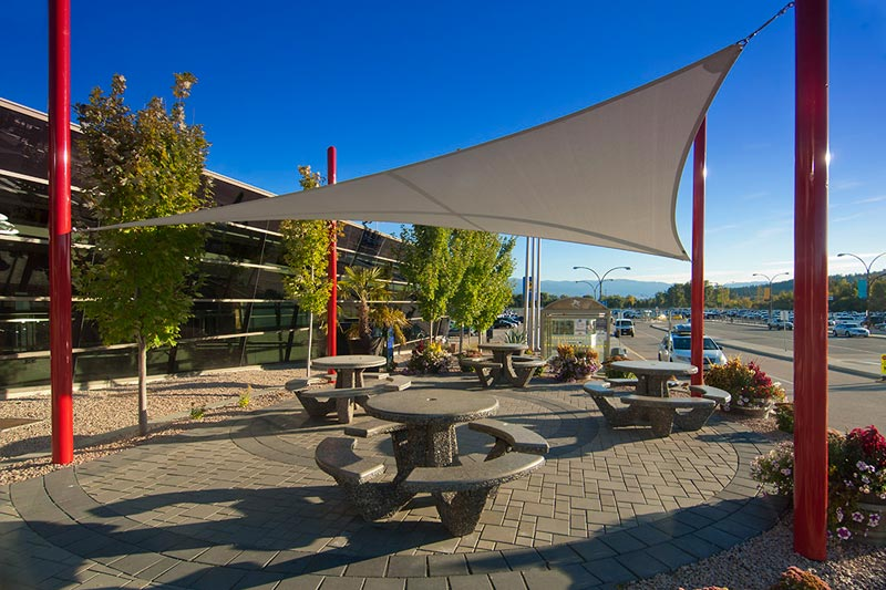 Kelowna International Airport Free Span Shade Sail