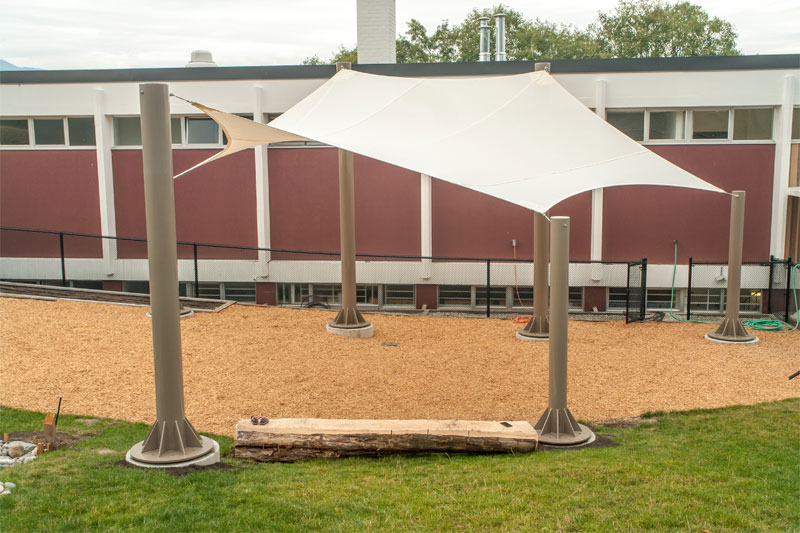 West Point Grey Academy Fabric Structure