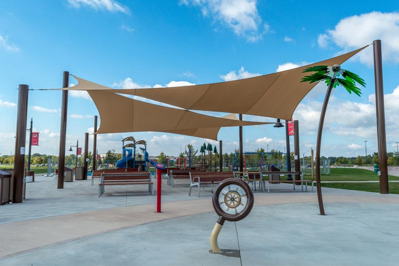 Le Salle Shade Sails and Play Area