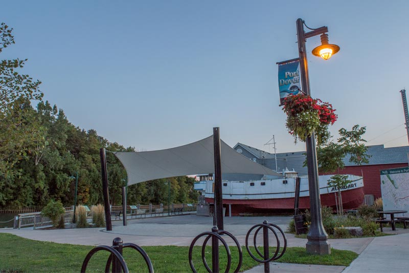 Shade Structure outside the Port Dover Harbour Museum