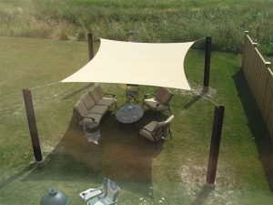 Standard Sized Quadrilateral Shade Sail photo review