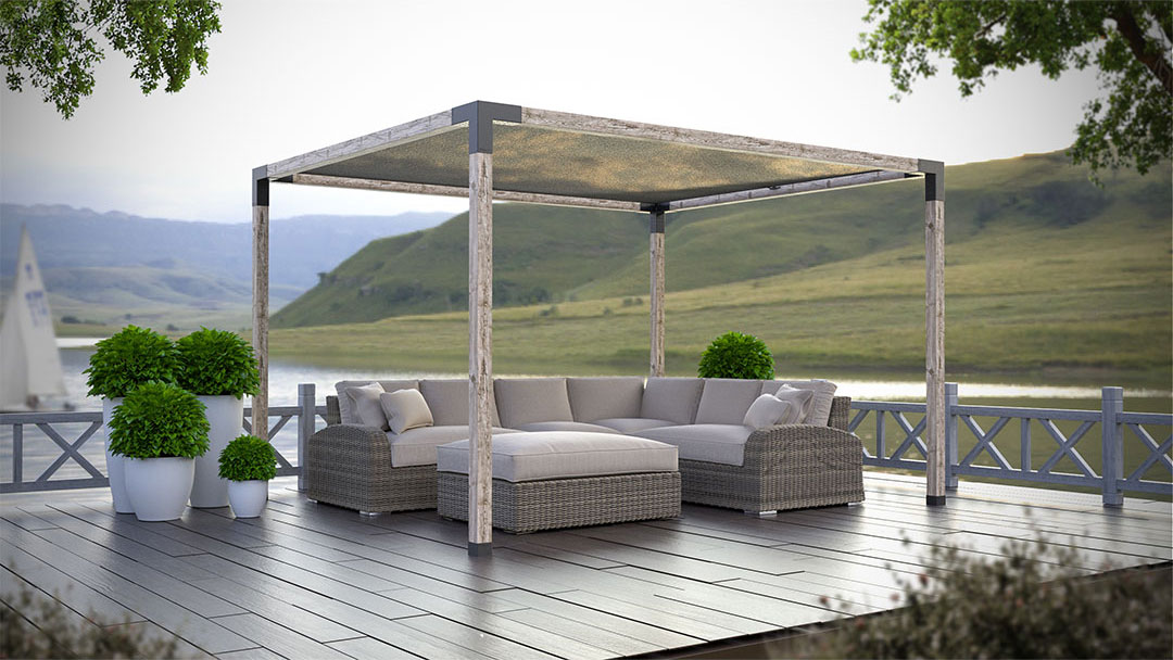 Pergola Kit with Shade Sail