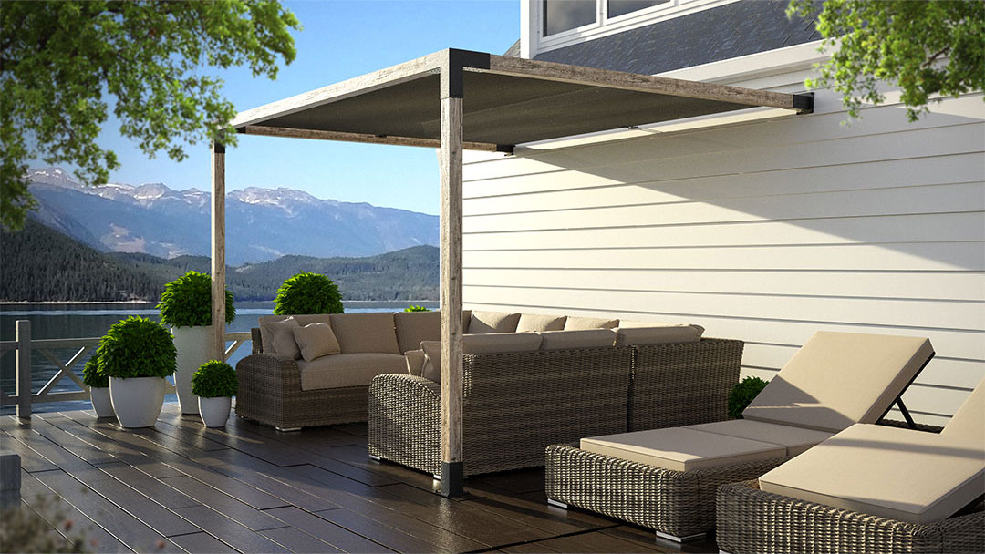 Side Pergola Kit with Shade Sail