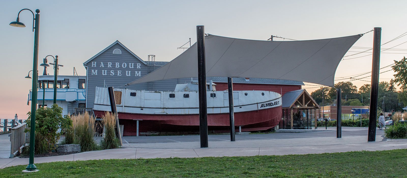 Commercial shade structure at the Port Dover Harbour Museum
