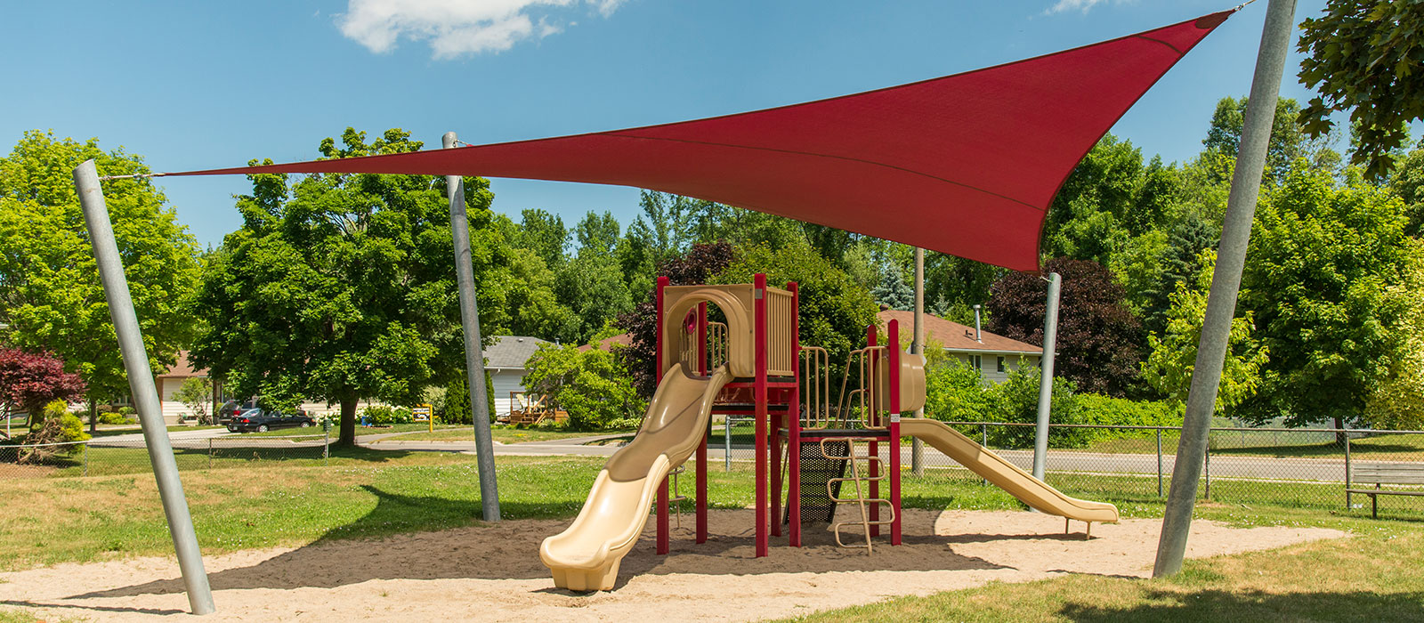 Shade Sail in a Playground